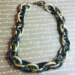 Jewelry - Black/Gold Link Necklace